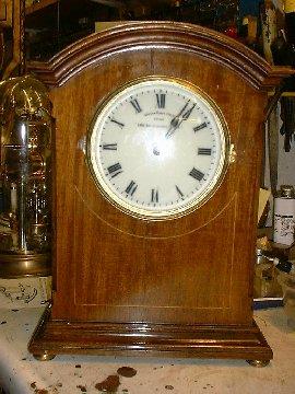 Eureka Mahogany cased clock