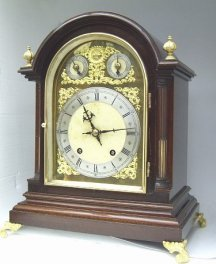 Winterhalder  and  Hofmeier Bracket Clock Mahogany case